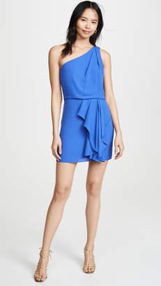 Halston One Shoulder Drape Dress