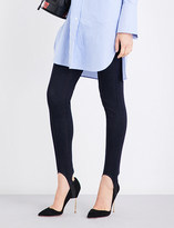 Mo&Co. Stirrup-detail high-rise skinny jeans