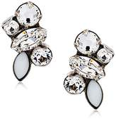 Sorrelli Core Antique Silver Tone Crystal Petite Cluster Post Earrings