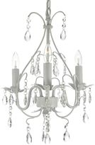Bed Bath & Beyond Wrought Iron & Crystal Chandelier in White
