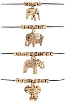 Forever 21 Ornate Elephant Bracelet Set