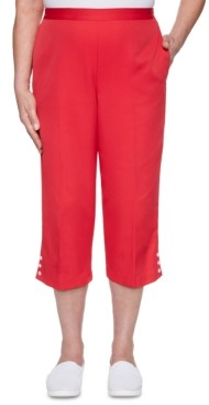 Alfred Dunner Petite Ship Shape Cropped Pull-On Pants