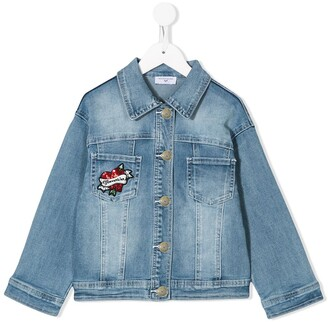 MonnaLisa Minnie Mouse sequinned denim jacket