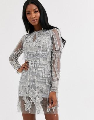A Star Is Born geometric embellished mini dress