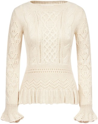 See by Chloe Pointelle-knit Wool-blend Sweater