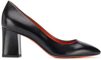 Santoni block heel pumps