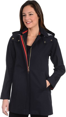 Fleet Street Women's Hooded Trench Coat