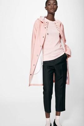 Stutterheim Mosebacke Pale Pink Womens Raincoat - XS