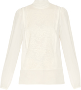Dolce & Gabbana Lace and silk-blend blouse
