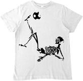 Micro Me White Soccer Skeleton Tee - Infant Toddler & Boys