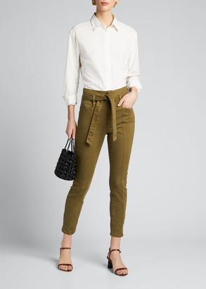 Alice + Olivia Jeans Good High-Rise Skinny Jeans w/ Belt