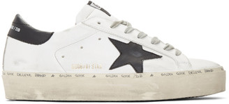 Golden Goose White and Black Hi Star Sneakers