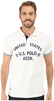 U.S. Polo Assn. Slim Fit Flocked Logo Pique Polo Shirt