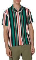 Topman Miami Stripe Revere Collar Shirt