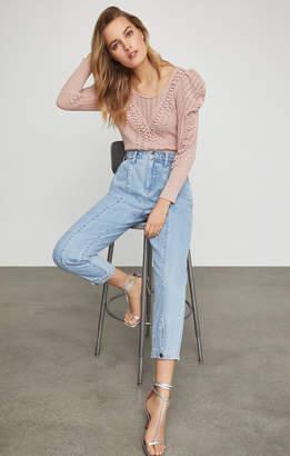 BCBGMAXAZRIA Snap Cuff Trouser Jean