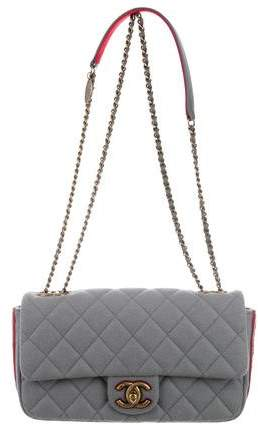 Chanel Paris-Salzburg Medallion Felt Flap Bag