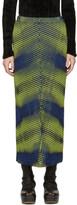 Issey Miyake Yellow & Navy Aurora Oval Skirt