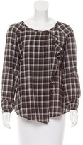 Masscob Long Sleeve Plaid Top