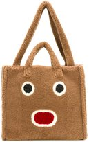 Fendi Faces shearling tote