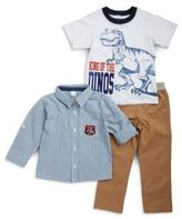Nannette Striped Sportshirt, Dino Tee and Chinos Set