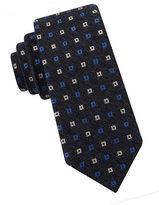 Black Brown 1826 Neat Square Tie