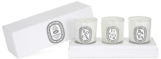 Diptyque Baies, Figuier, Roses mini candles set 3x70 g