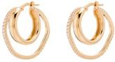 Cornelia Webb gold-plated crystal double-hoop earrings