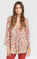 MUMU Marlow Swing Top ~ Paisley Daze Cloud