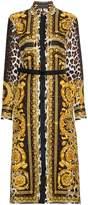Versace Silk Signature Print Dress
