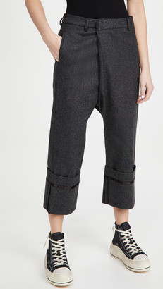 R 13 Tailored Crossover Pants with Wide Cuff