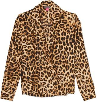 Vince Camuto Leopard-print Surplice Blouse