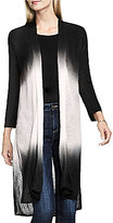 Vince Camuto Two By Dip-Dye Long Open Front Vest