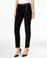 JM Collection Belted Ankle Pants, Only at Macy's