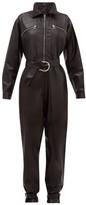Dodo Bar Or Barbara Zipped Leather Jumpsuit - Womens - Black