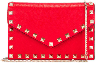 Valentino Rockstud Pouch in Red | FWRD