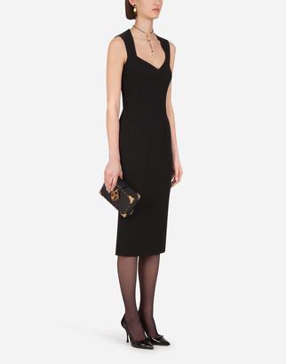 Dolce & Gabbana Double Crepe Calf-Length Dress
