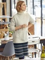 White Stuff Shadow stripe jersey jacquard skirt