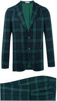 Boglioli checked suit - men - Linen/Flax/Acetate/Cupro - 48
