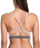 CRZ YOGA Women's Light Support Cross Strappy Back Feminine Yoga Sports Bra S