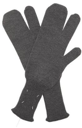 Maison Margiela Split Wool-blend Mittens - Grey