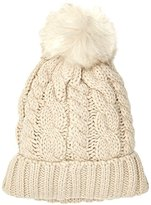 New Look Women's Cable Faux Pom Bobble Beanie,(Manufacturer Size: 99)