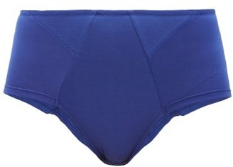 Rossell England - High-rise Cotton Briefs - Blue