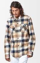 Volcom Shandy Plaid Flannel Long Sleeve Button Up Layering Shirt