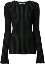Le Ciel Bleu pleated jumper - women - Polyester/Rayon - 36