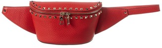 Valentino Rockstud Grainy Leather Belt Bag