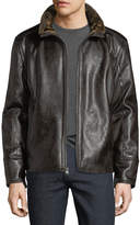 Andrew Marc Caldwell Distressed Vintage Faux-Leather Jacket