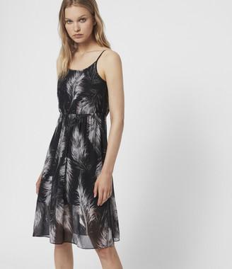 AllSaints Dillon Feather Dress