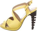 Proenza Schouler Satin Mlultistrap Sandals