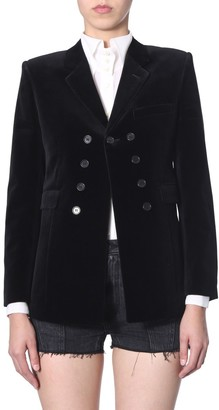 Saint Laurent Double Breasted Straight Fit Blazer