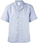 Wood Wood short-sleeved shirt - men - Cotton/Linen/Flax - S